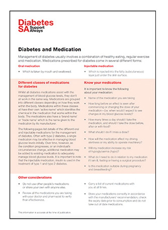 Diabetes and medication